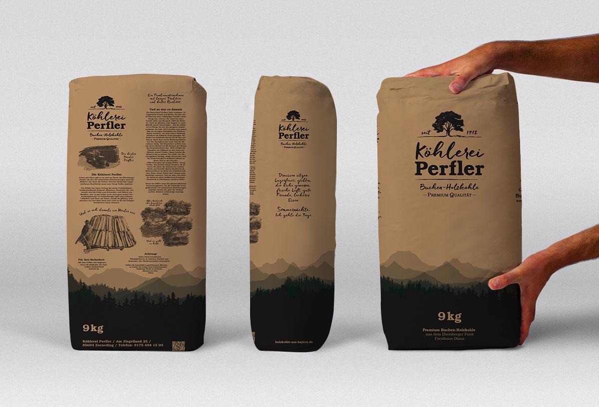 Köhlerei Branding Verpackungsdesign