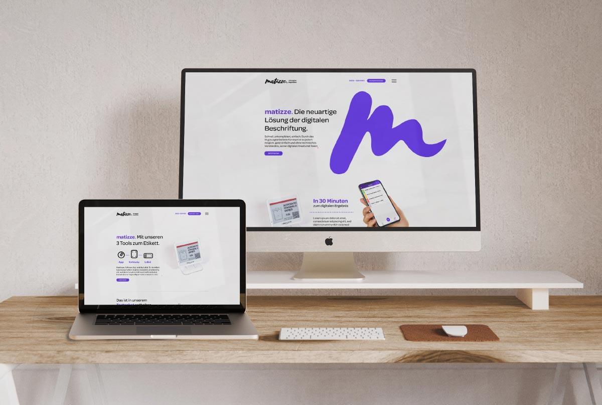 matizze Markenentwicklung Webdesign