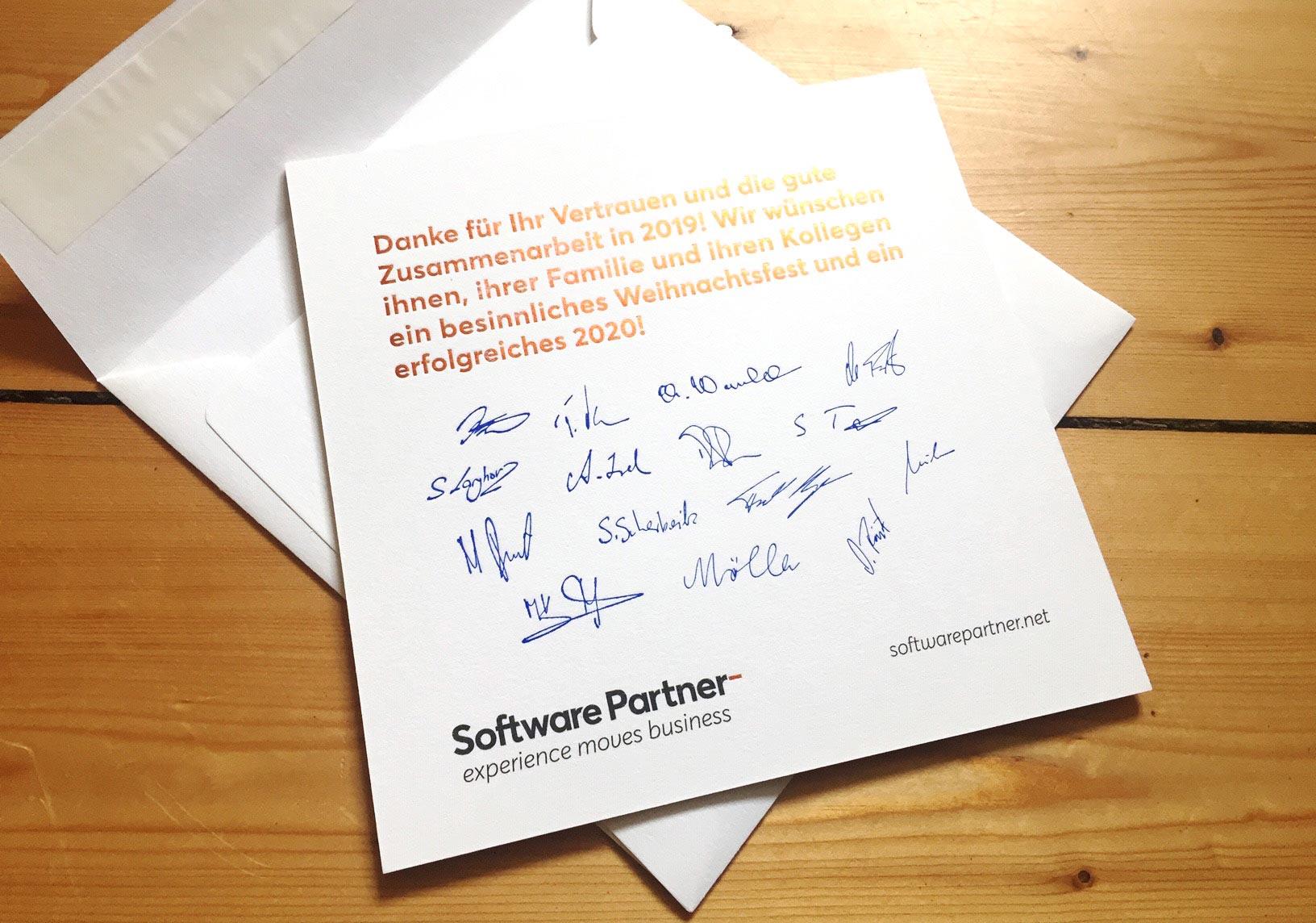 softwarepartner marke relaunch weihnachtskarte druck hofgartenmanufaktur bonn